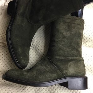 JCrew boots suede packable forest green It…